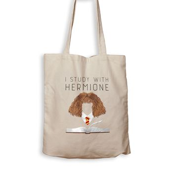 I Study With Hermione - Tote Bag