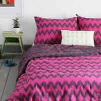 Magical Thinking Chevron Duvet Cover- Berry