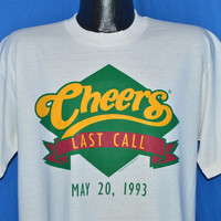 90s Cheers Last Call May 20 1993 TV Show t-shirt Large