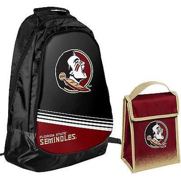 Florida State Seminoles One Size Backpack Core Bag Insulated Lunch Box