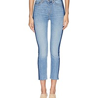 The Kooples Lizy Jeans with An Unfinished Side Hoop in Blue