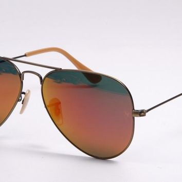 Ray Ban Sunglass RB3025 Bronze Red Mirrored