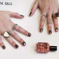 Scotch Tape Nail Art: 3 Easy Designs! - Free People Blog