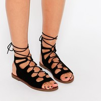 New Look Wide Fit | New Look Lace Up Sandal at ASOS