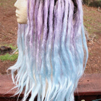 Lavender & Blue Pastel Ombre Lace Front Dreadlock Wig * Synthetic Dreads * Purple Dreadlocks * Pastel Goth * Afropunk * Grunge * Kawaii *