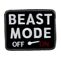 "Beast Mode ""On"" Gamer Patch Iron on Applique Alternative Clothing"