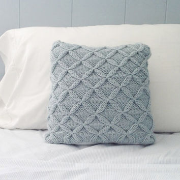New Cathedral Cable Knit Pillow Sham