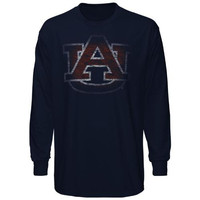 Auburn Tigers Fadeout Long Sleeve T-Shirt - Navy Blue