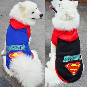 2017 Winter Dog Clothes for Dog Coats Cosplay Clothing Big Dogs Costume Hoodie Pet Superman Cartoon Totoro Costumes for Puppy