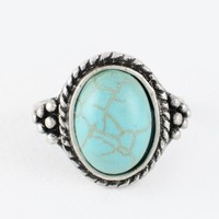 Brandy & Melville Deutschland - Dija Ring with Turquoise