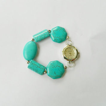 Turquoise watch bracelet water proof