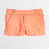 "Factory 3"" embroidered broken-in chino short"