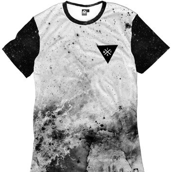 Space Minimalist Men's Tee - White