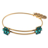 Aqua Sparkler Beaded Bangle