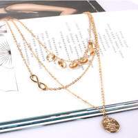 Shiny Hot Sale Simple Design Chain Crystal Necklace = 4831085956