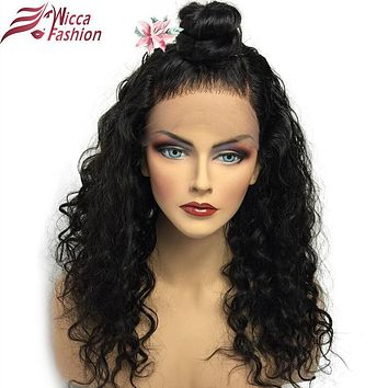 Dream Beauty Brazilian remy curly hair natural color 150 Density Pre Plucked Natural Hairline 360 Lace Frontal Wig