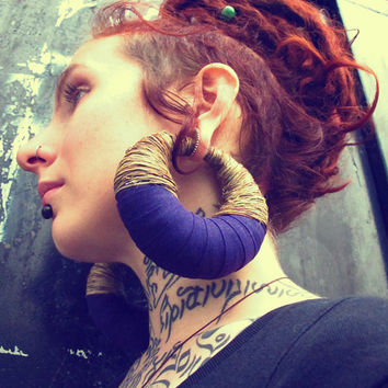 Apocalypse - Organic Hemp earrings for stretched ears