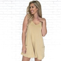 Keep It Cool Pocket Romper in Mustard