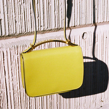 SMALL SCULPTURE BAG, LIME GREEN