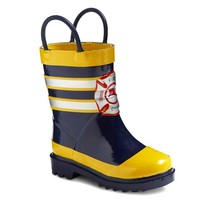 Toddler Boy's Fireman Rain Boots