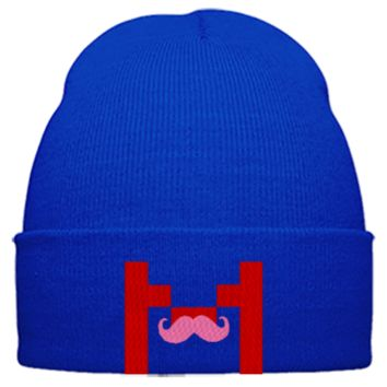 markiplier m embroidery hat - Beanie Cuffed Knit Cap