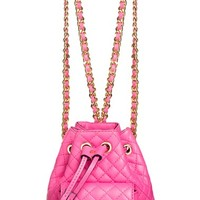 Women's Moschino 'Letters' Quilted Backpack