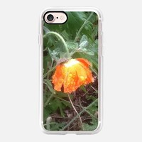 Casetify iPhone 7 Classic Grip Case - Poppy in the rain by littlesilversparks #iPhone 7