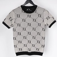 Fendi New fashion more letter print couple top