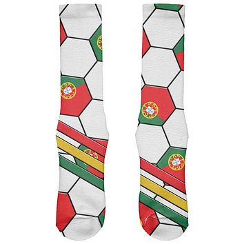 World Cup Portugal Soccer Ball All Over Soft Socks