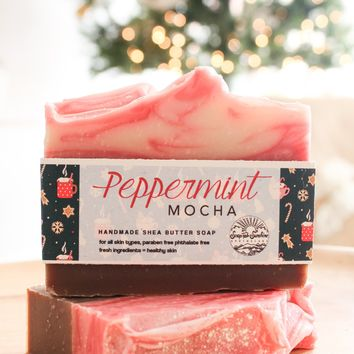 Peppermint Mocha Handcrafted Soap Bar