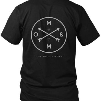Of Mice And Men 2 Sided Black Mens T Shirt