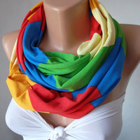 Infinity Scarf, Tube Scarf, Loop Scarf, Circle Scarf  - ZigZag ...It made with good quality  fabric Super Loop