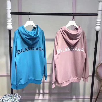 balenciaga simple casual letter print long sleeve hooded sweater women hoodie sweatshirt tops 2