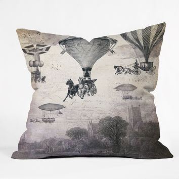 Belle13 Carrilloons Over The City Throw Pillow