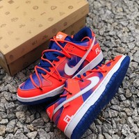 Off White X Futura X Nike Sb Dunk Low Sneakers Red- Best Online Sale