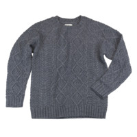 Cable Knit Pullover - Grey