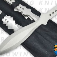 "TK-40-6-6-SL. 6.5 Inch 4 Oz Silver ""Tiger Thrower"" Throwing Knives (Set of 6) knife blade weapon Panttttr"