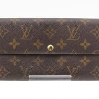 Authentic Louis Vuitton Monogram Pochette Porte Monnaie Long Pvc Leather Wallet
