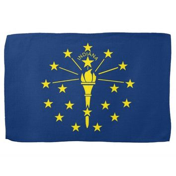 Kitchen towel with Flag of Indiana, U.S.A.