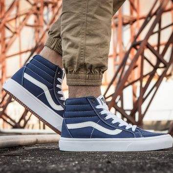 LMFON Vans Sk8-Hi F177 High Top Leather With Fur Warm Casual Sneakers Sport Shoes