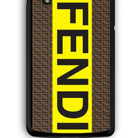 Google Nexus 5 Case - Hard (PC) Cover with fendi logo Plastic Case Design