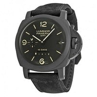 Panerai Men's Swiss Automatic Stainless Steel Watch, Color:Black (Model: PAM00335)