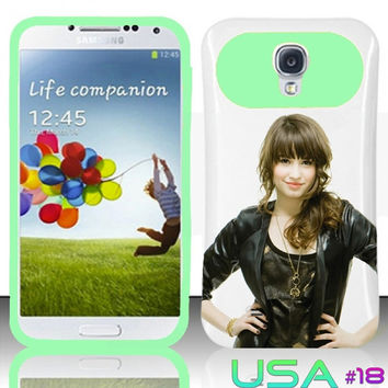USA Design #18 - Samsung Galaxy S4 Glow in Dark Case # Demi Lovato @ Cover for Galaxy S4 i9500 Case