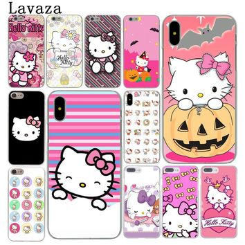 Lavaza Fashionable Hello Kitty cute Hard Cover Case for Apple iPhone X XS Max XR 6 6S 7 8 Plus 5 5S SE 5C 4S 10 Phone Cases