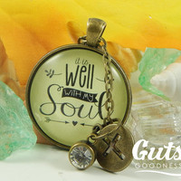 It is Well With My Soul Hymn Necklace Jewelry Bible Verse Christian Gift Antique Jewelry Encouragement Gift Spoonie Invisible Pain