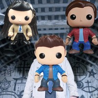 Supernatural Dean Sam Castiel with Wings Exclusive Vinyl Action Figure with Box