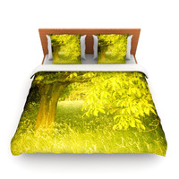 "Iris Lehnhardt ""Summer"" Tree Green Lightweight Duvet Cover"