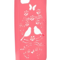 Cut Out Lovebirds Case For Use With iPhone 5   Pink   Accessorize