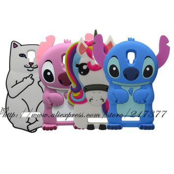 For Lenovo A1000 A 1000 Cover stitch unicorn Cat cartoon soft silicon cell phone case for Lenovo A1000 Case mobile phone cover