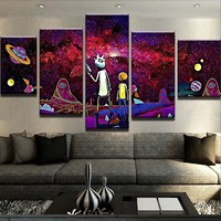 Psychedelic R&M Remix Canvas Set